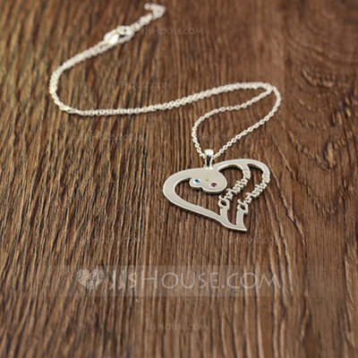 Personalized Ladies' Chic Zircon Name Necklaces For Bridesmaid/For Friends