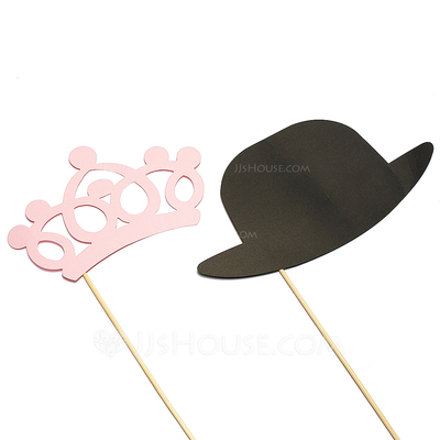 """""""Mr. & Mrs."""" Pearl Paper Photo Booth Props (2 Pieces)"""