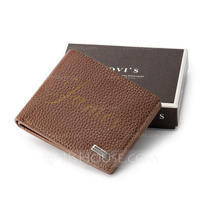 Groomsmen Gifts - Personalized Modern Leather Wallet