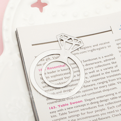 """""""With this Ring"""" Metal Bookmarks"""
