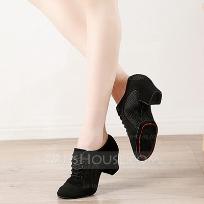 Women's Stretch Canvas Sneakers Jazz Practice Dance Shoes