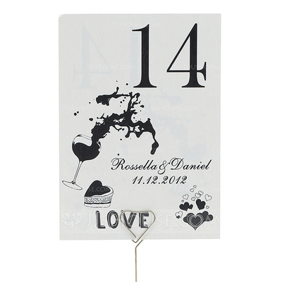 Personalized Delicate Pearl Paper Table Number Cards (Set of 10)