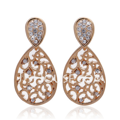 Gorgeous Alloy With Crystal Ladies' Earrings