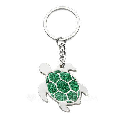 Personalized Tortoise Zinc Alloy Keychains (Set of 4)