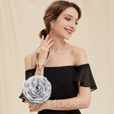 Unique Satin Wristlets/Top Handle Bags/Bridal Purse