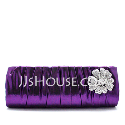 Gorgeous Satin With Rhinestone Clutches