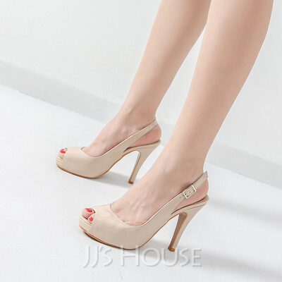Women s Patent Leather Stiletto Heel Pumps Platform Peep Toe Slingbacks  shoes