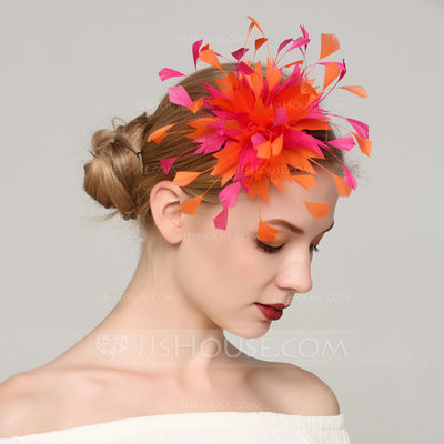 Ladies' Special Feather With Feather Fascinators/Kentucky Derby Hats