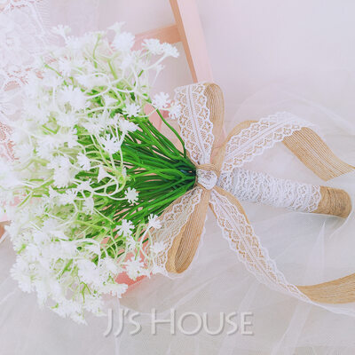 Classic Hand-tied Simulation PU Materials/Lace/Linen Bridal Bouquets/Bridesmaid Bouquets (Sold in a single piece) - Bridal Bouquets/Bridesmaid Bouquets