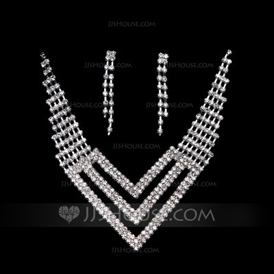 Lovely Alloy/Crystal Ladies' Jewelry Sets