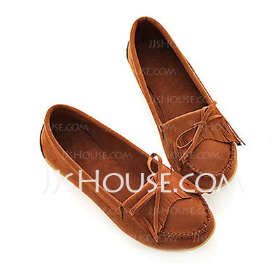 Suede Flat Heel Others Closed Toe Flats