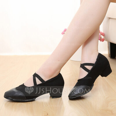Women's Leatherette Heels Ballroom Dance Shoes