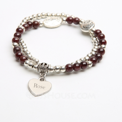 Personalized Artificial Garnet Ladies' Bracelets