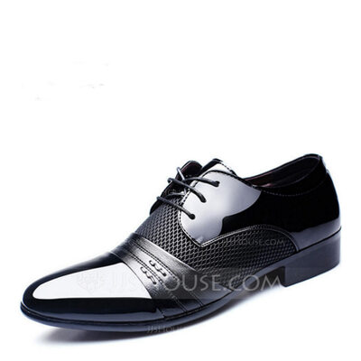 Men's Microfiber Leather Lace-up Dress Shoes Work Men's Oxfords