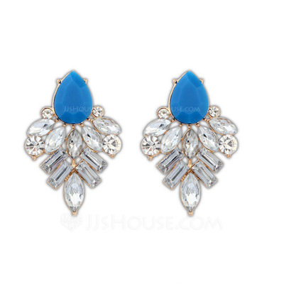 Beautiful Acrylic Zinc Alloy Ladies' Fashion Earrings