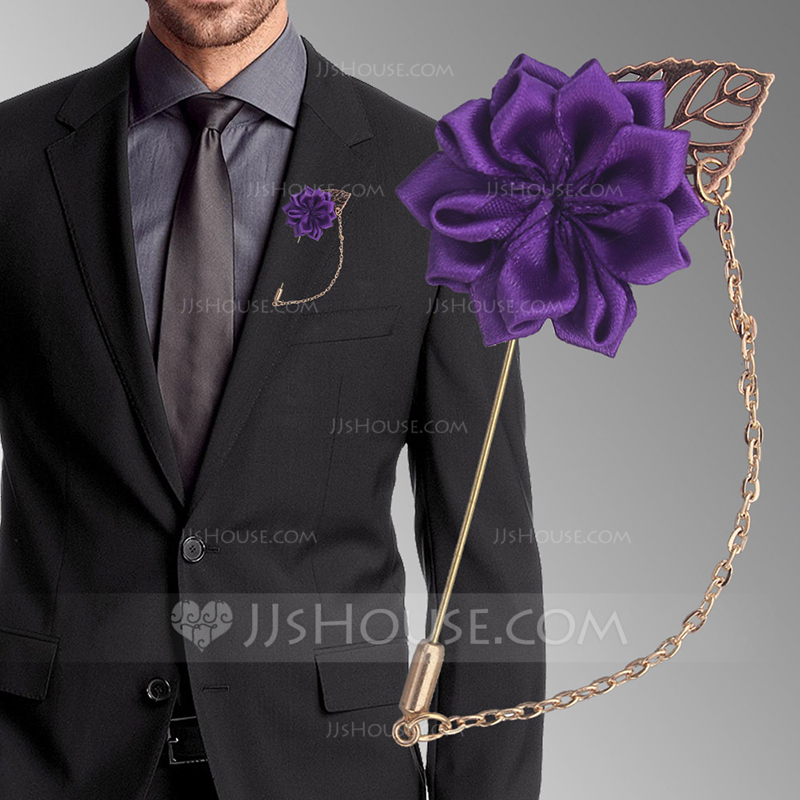 Romantic Satin Boutonniere (Sold in a single piece) -