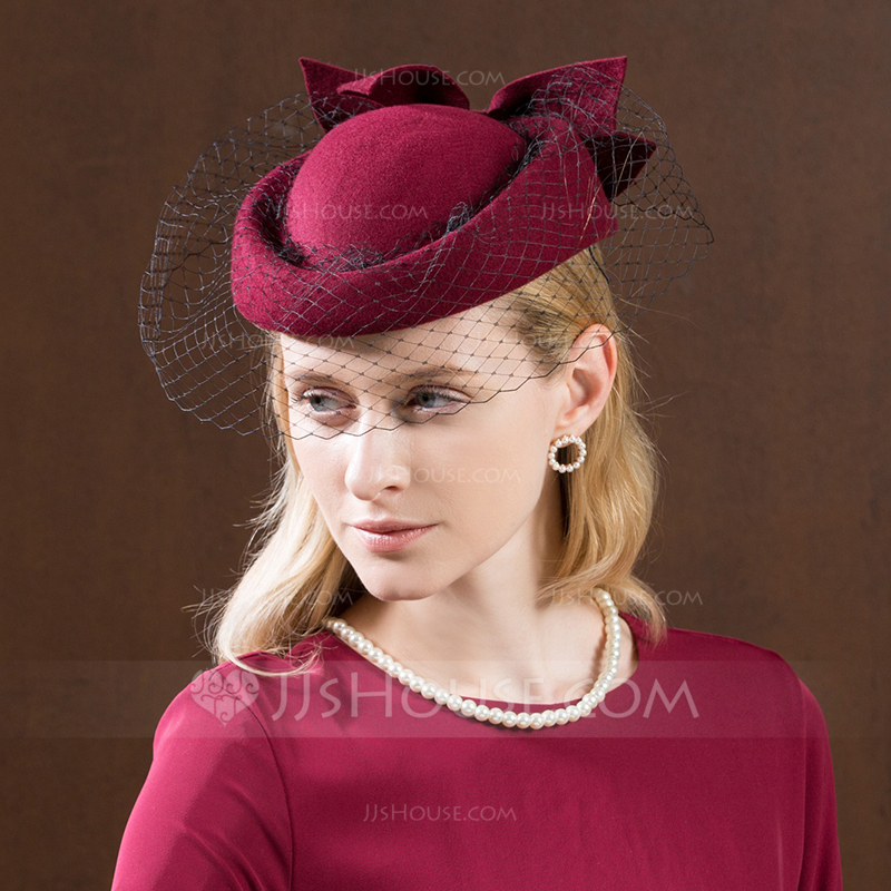 2bf54418546e7 Ladies  Gorgeous Fashion Glamourous Wool With Tulle Beret Hat. Loading zoom