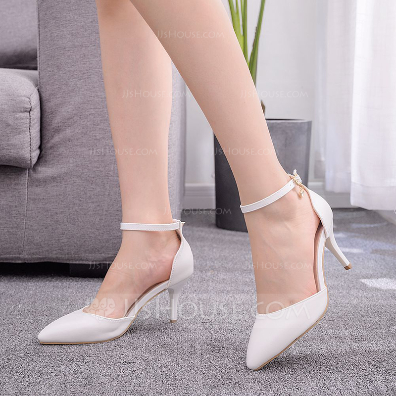 Kids' Leatherette Stiletto Heel Closed Toe Pumps Sandals MaryJane