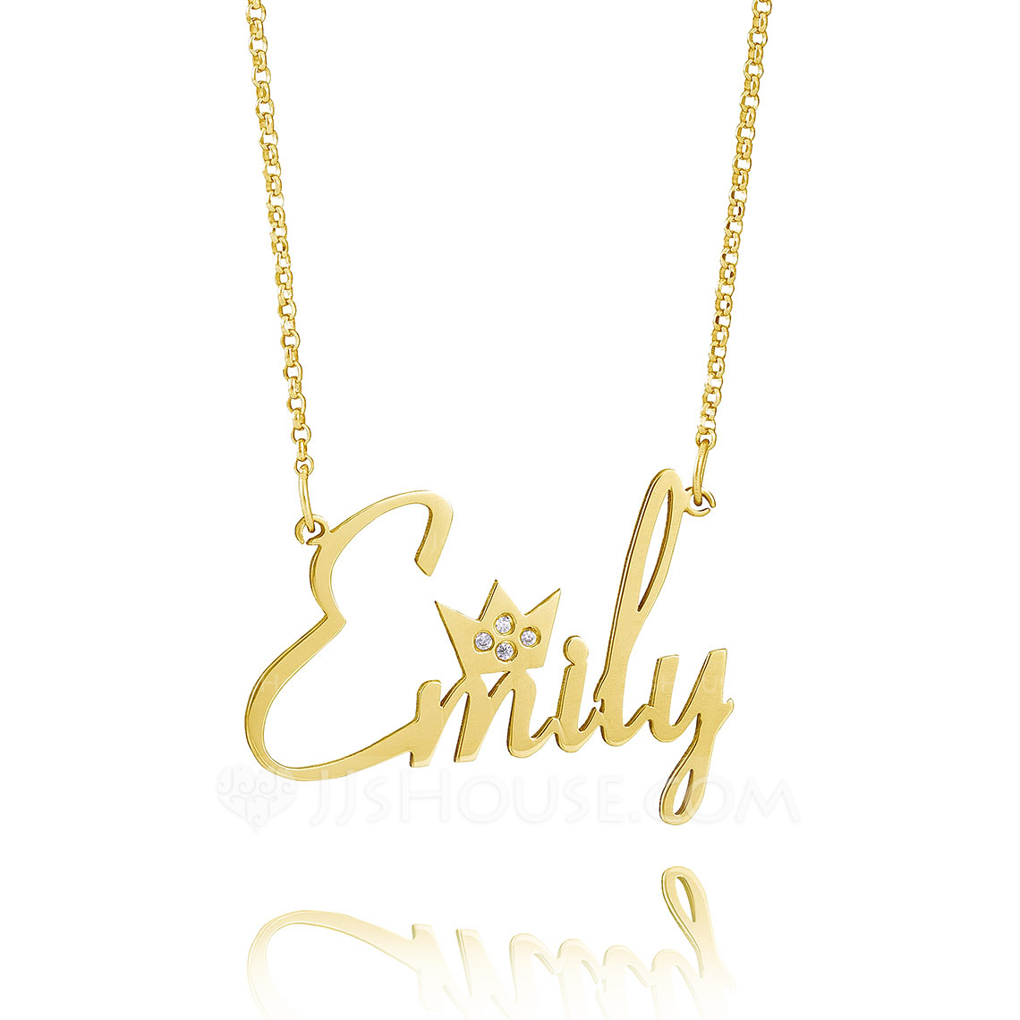 Custom 18k Gold Plated Silver Name Necklace Nameplate - Christmas Gifts