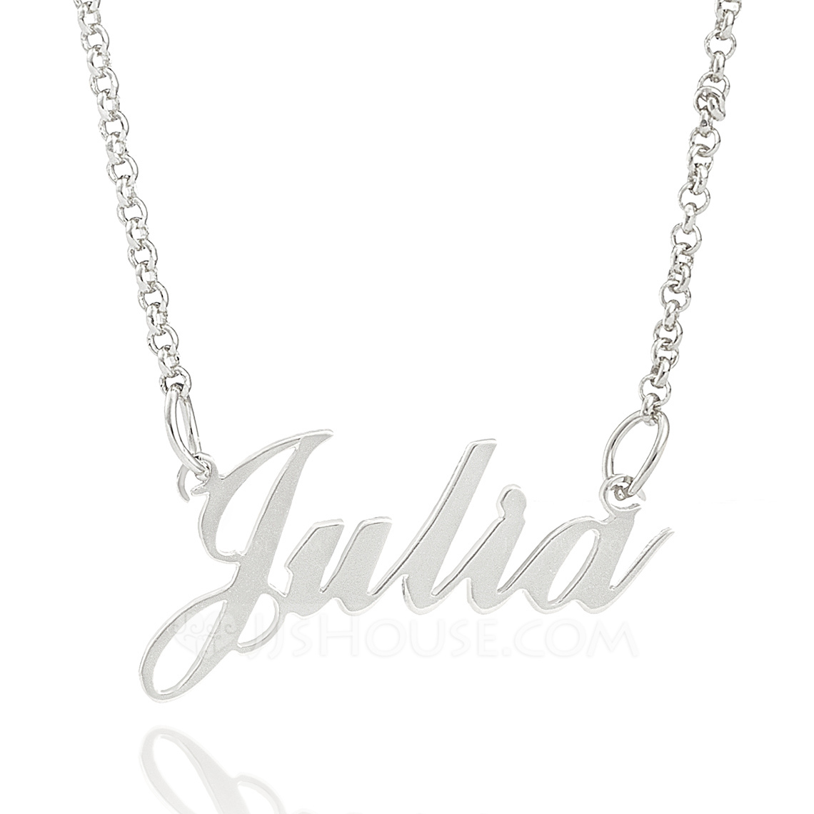 Custom Sterling Silver Signature Script Name Necklace - Christmas Gifts