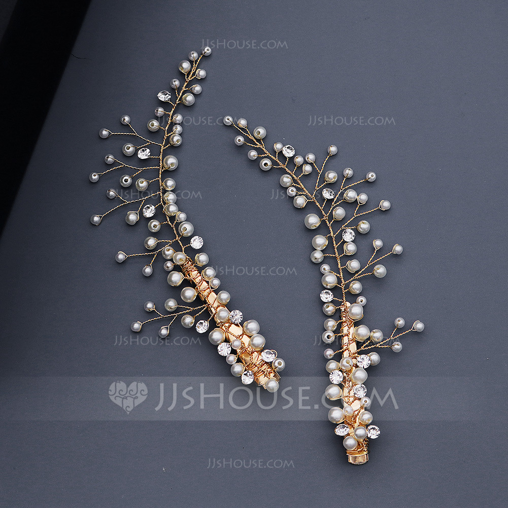 Beautiful Rhinestone/Imitation Pearls Hairpins With Venetian Pearl (Set of 2)
