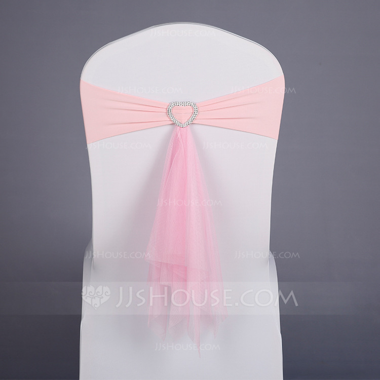 Simple Colorful Polyester Chair Ribbon Sash (set of 10)