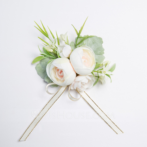 Nice Free-Form Fabric Wrist Corsage (Sold in a single piece) -