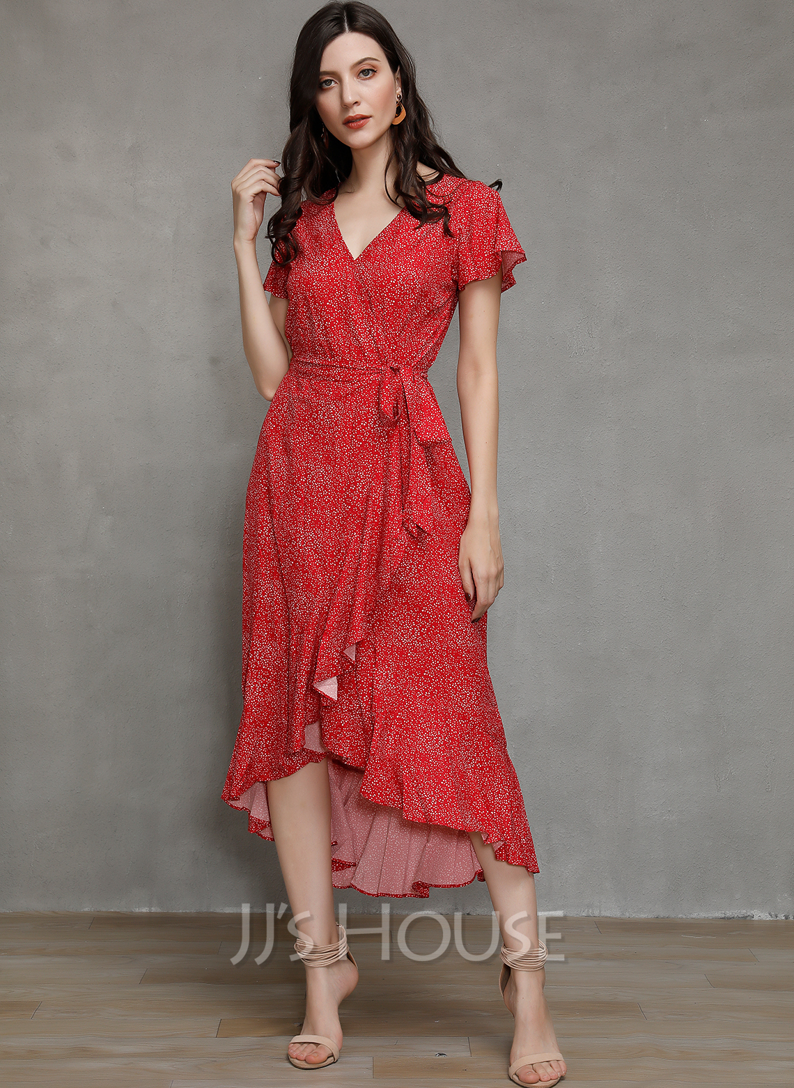 Cotton With Print Asymmetrical Dress