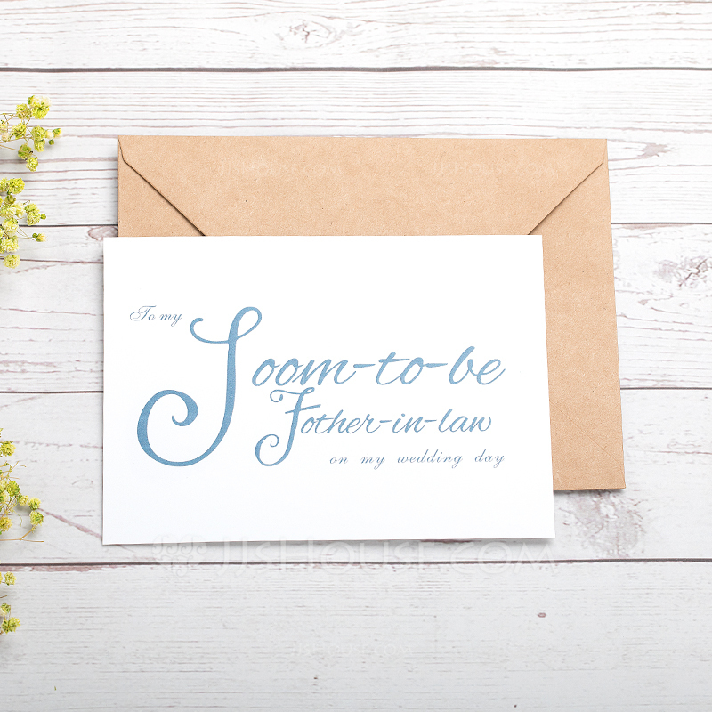 Bride Gifts - Classic Paper Wedding Day Card