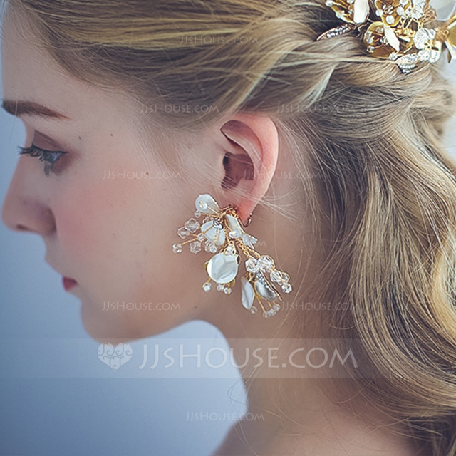 Ladies' Exquisite Alloy Rhinestone/Imitation Pearls Earrings For Bride/For Bridesmaid/For Mother/For Friends/For Her
