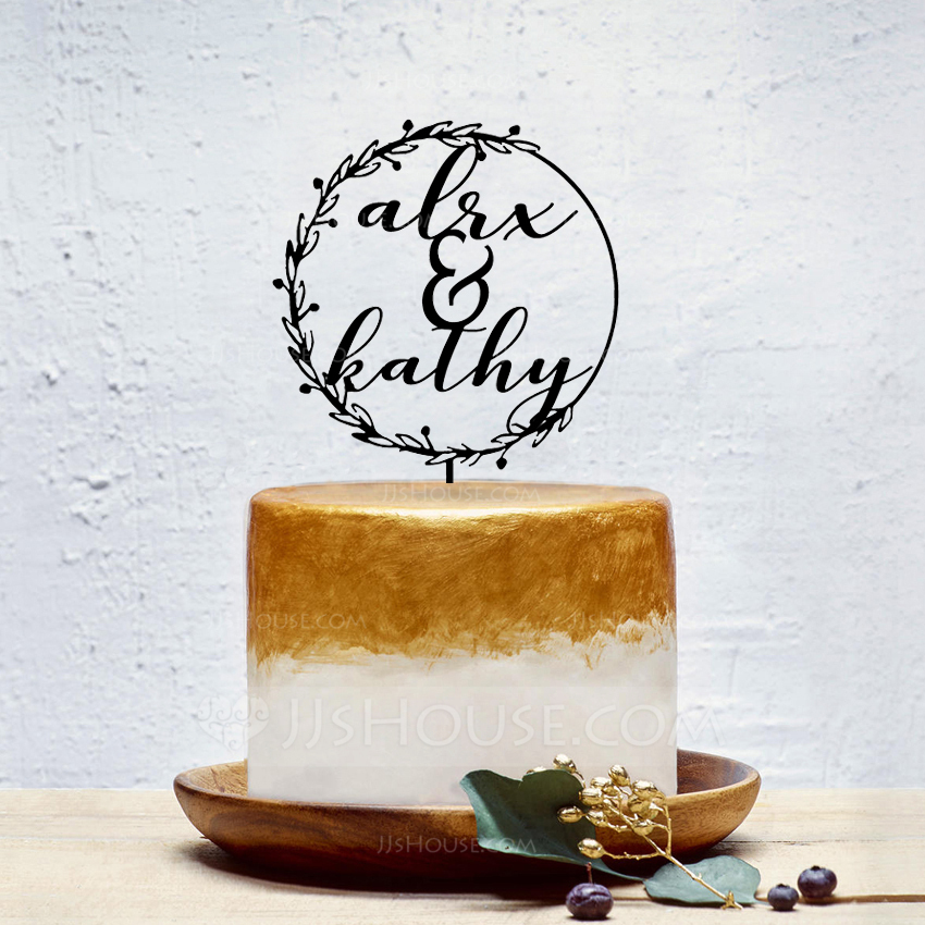 Personalized Mr. & Mrs. Acrylic Cake Topper