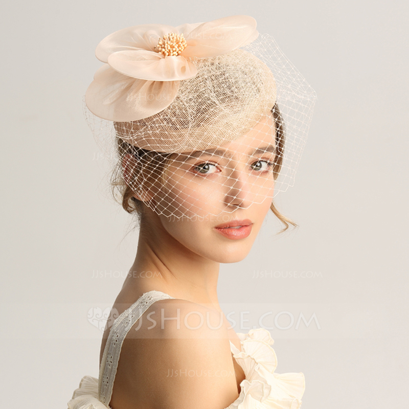 Ladies' Special/Glamourous/Elegant/Unique/Fancy/Romantic/Vintage/Artistic Cambric/Net Yarn Fascinators/Tea Party Hats