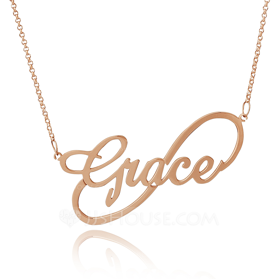 Custom 18k Rose Gold Plated Silver Infinity Name Necklace Infinity Name Necklace - Birthday Gifts Mother's Day Gifts