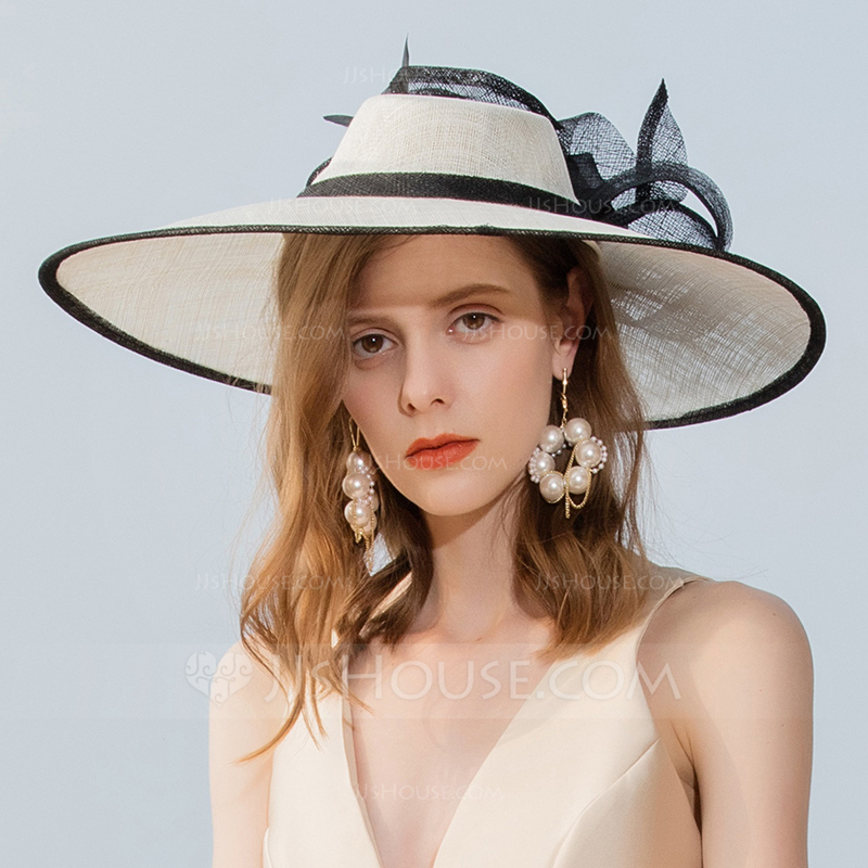 Ladies' Classic/Elegant/Amazing Cambric With Feather Fascinators/Kentucky Derby Hats/Tea Party Hats