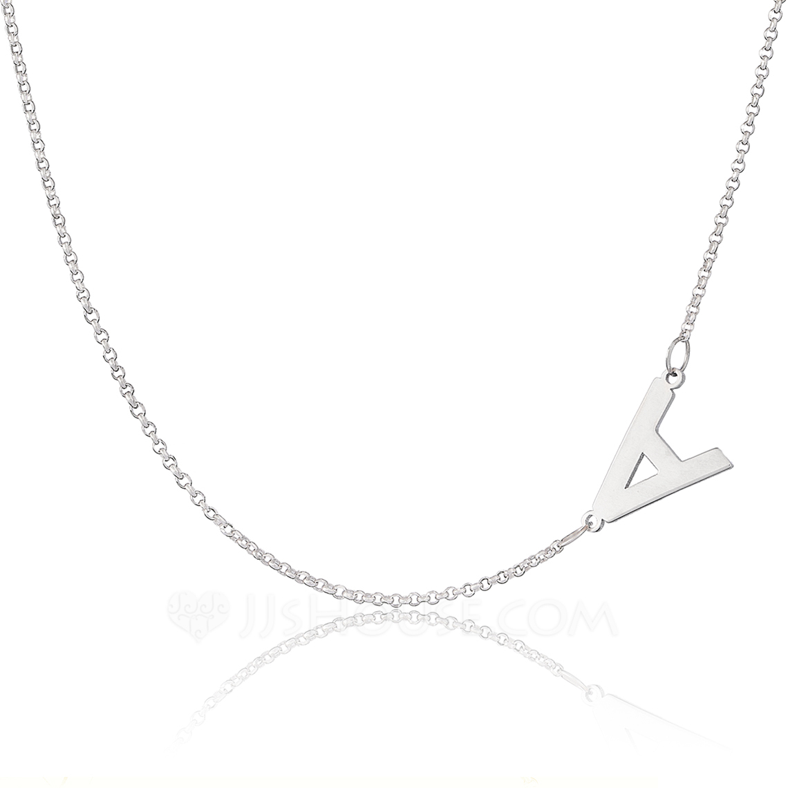 Bridesmaid Gifts - Personalized Fascinating Sterling Silver Name Necklace