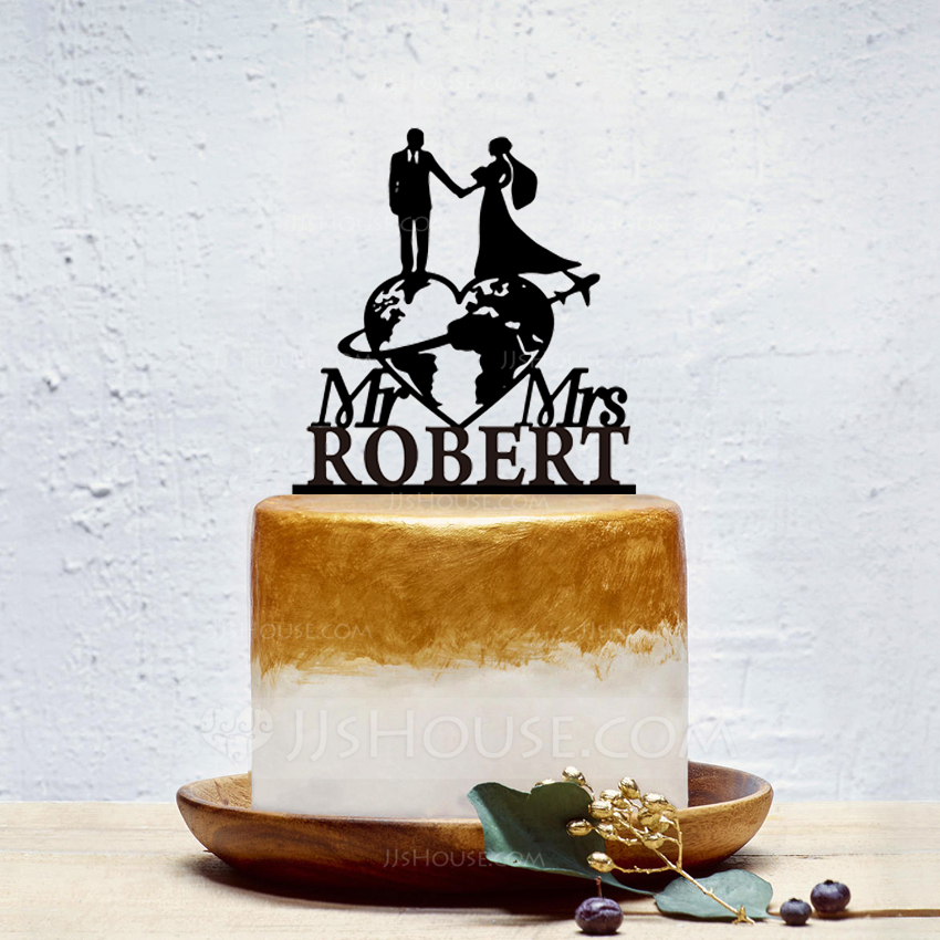 Personalized Bride And Groom/Sweet Love Acrylic Cake Topper