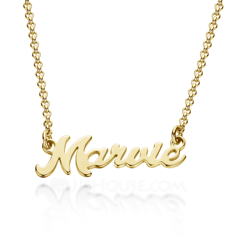 Custom 18k Gold Plated Letter Name Necklace - Birthday Gifts