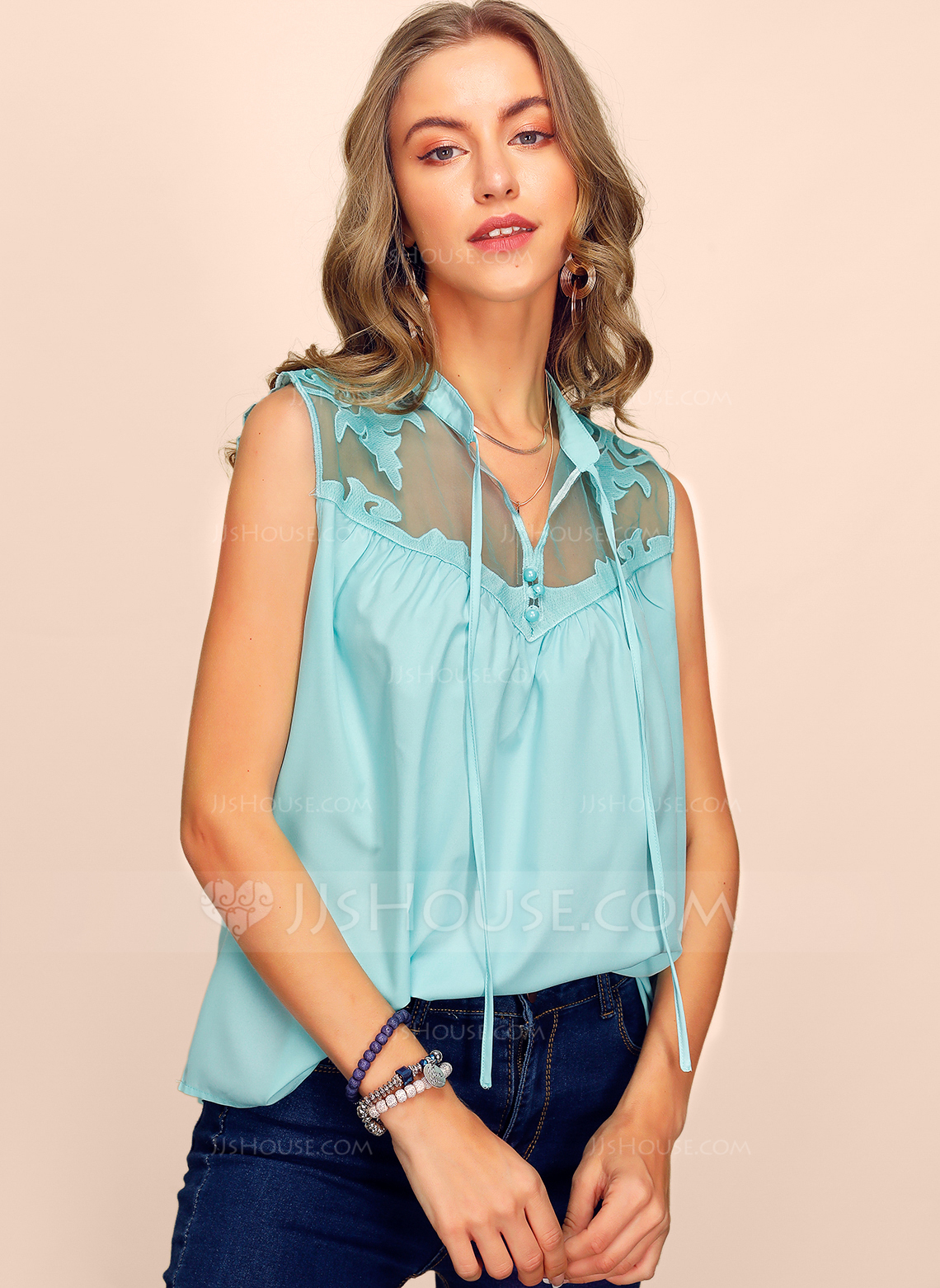 Sleeveless Cotton V Neck Tank üstleri Bluzlar