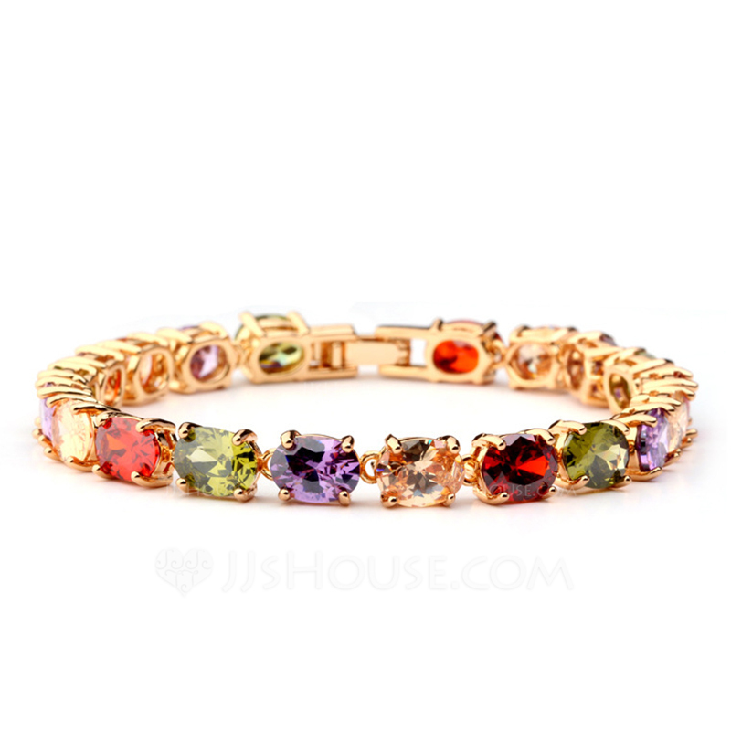 Charming Alloy/Zircon Ladies' Bracelets