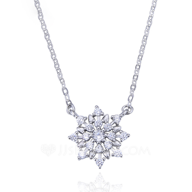 Ladies' Elegant 925 Sterling Silver With Cubic Cubic Zirconia Necklaces For Mother/For Friends