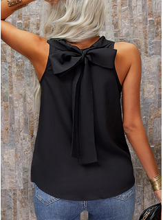 Regular Polyester Round Neck Solid 3XL L S M XL XXL Blouses