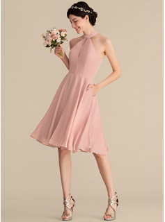 vintage champagne color bridesmaid dress