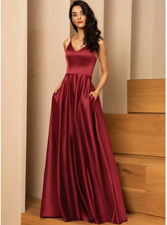 red trumpet dress with sleeves