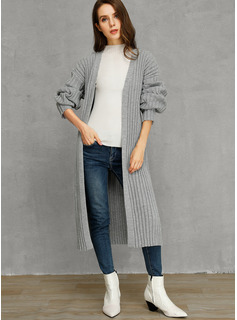 Solid Cotton Cardigans Sweaters