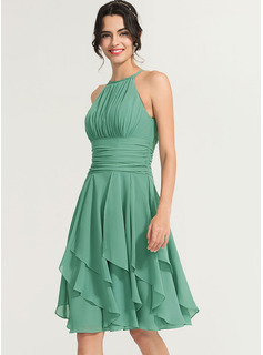 chiffon tea length dress