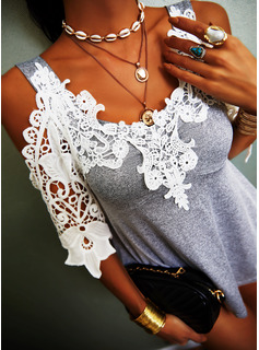 Regular Lace Casual 3/4 Sleeves