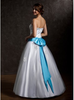 blue and white bridesmaid dress