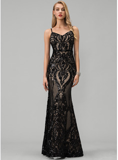 champagne sequin formal dress