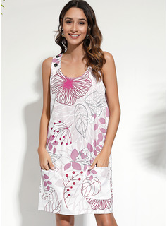 Polyester With Print Above Knee Dress