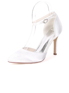 Women's Silk Like Satin Stiletto Heel Pumps With Others